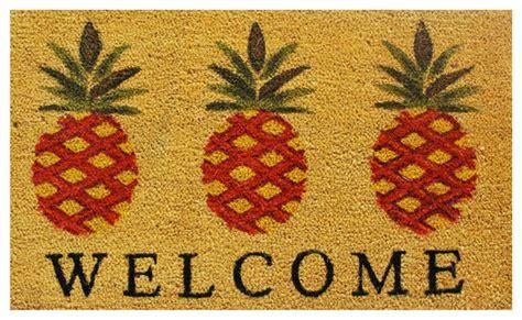 Tropical Doormat by Pineapple Welcome Doormat Tropical Doormats By Home