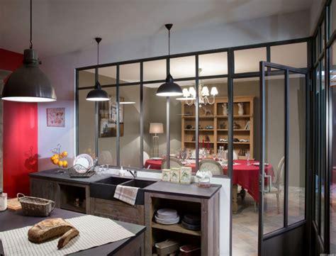 cuisine avec verrière cuisine industriel
