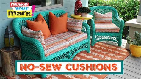No Sew Cushion Covers Sofa by How To No Sew Pillows And Cushions
