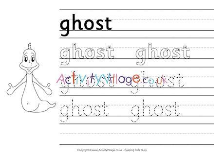 ghost handwriting worksheet