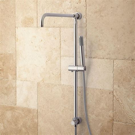 hawick shower system riser with shower shower