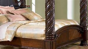 Ashley North Shore Poster Bed Bedroom YouTube