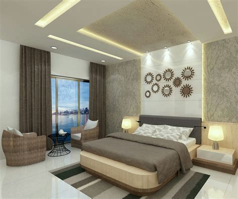 Bedroom Ceiling Design by Luxury Bedroom With Elements And Fittings Interior
