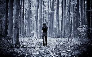 Photography, Filter, Monochrome, Women, Nature, Landscape, Forest, Alone, Branch, Wallpapers, Hd