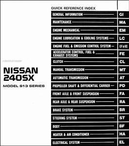 1992 Nissan 240sx Repair Shop Manual Original