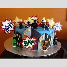 Avengers Lego Birthday Cake Kalebs Ideas