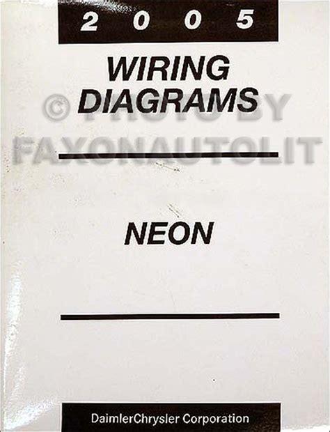 Dodge Neon Headlight Wiring Diagram by 2005 Dodge Neon Wiring Diagram Manual Original
