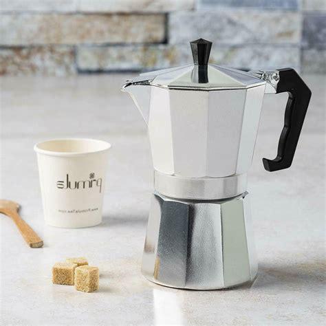 Makes 6 servings of espresso. Primula Coffee Espresso Maker Aluminum Stovetop Moka Moch