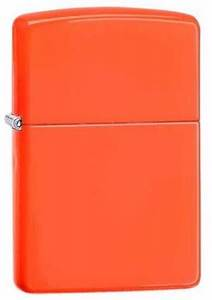 Bright Neon Orange Zippo Lighter