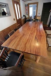 Custom Made Live Edge Cherry Kitchen Table by Wooden