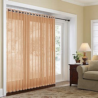 Jc Penney Curtains For Sliding Glass Doors by Home Naples Grommet Top Bamboo Panel Sliding Glass Door