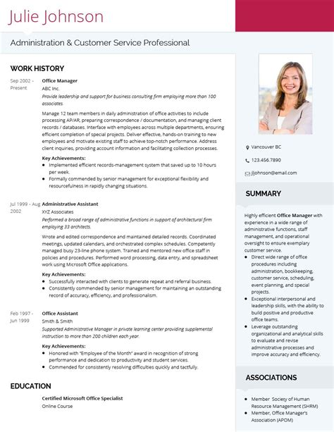 Professional Curriculum Vitae Format by Modern Professional Cv Template Visualcv