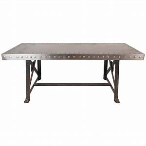 vintage industrial metal coffee table for sale at 1stdibs With industrial coffee tables for sale