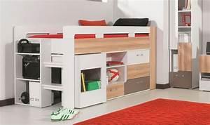 Lit En Hauteur Enfant : lit avec bureau et commode puzzle lit combin enfant et ~ Preciouscoupons.com Idées de Décoration