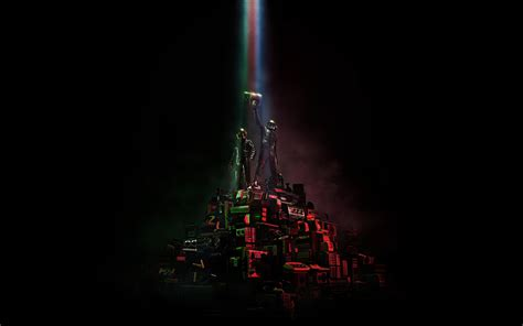 Daft Punk, music, artwork, dark, electronic music, simple ...