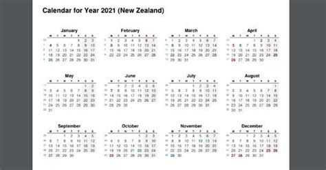 This page contains a calendar of all 2021 federal and state holidays for new york. 2021 Full Year Calendar with New Zealand Holidays - 2020 ...