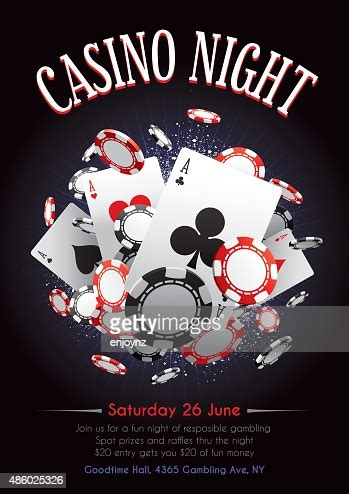 casino night poster high res vector graphic getty images