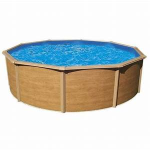 piscine hors sol metal aspect bois trigano colorado 485 m With piscine hors sol aspect bois