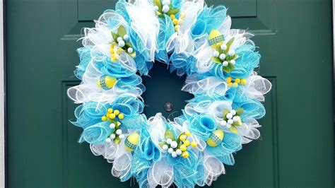 dollar tree easter wreath deco mesh diy crafts youtube