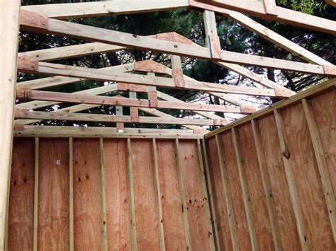 how to build shed trusses how to build a shed from scratch easy step by step