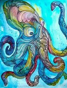Image Gallery trippy octopus
