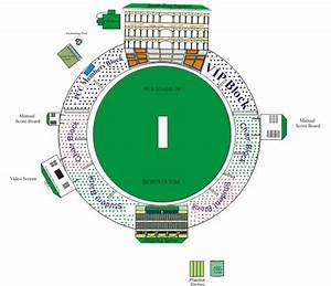 Block Diagram Sketch Of Mohali Cricket Ground India