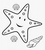 Coloring Sea Pages Star Animals Ocean Starfish Printable Template Colorings sketch template