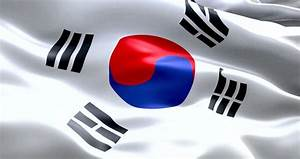 South Korea Flag. Seamless Looping Animation. 4K High ...