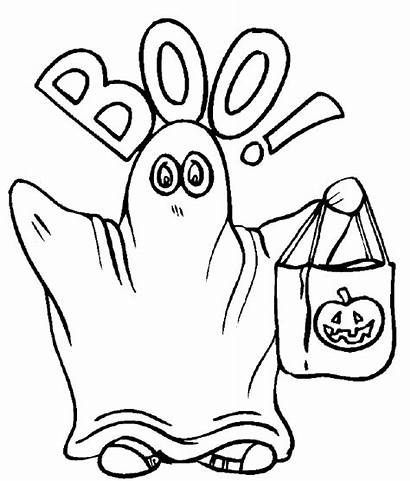Coloring Halloween Colouring Printable Ghost Worksheets Sheets