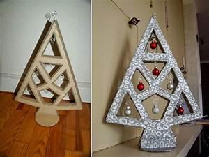Sapin Noel Carton : j 39 ai test la fabrication de meubles en carton sous notre toit ~ Voncanada.com Idées de Décoration
