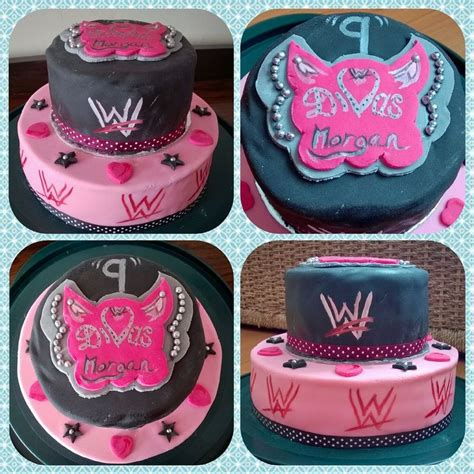 diva wrestling wwe 2 tier birthday cake first attempt at