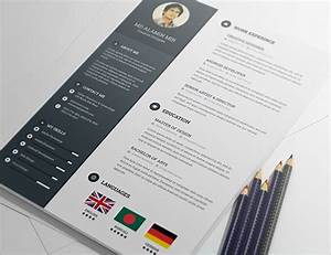 20 best free resume cv templates in ai indesign psd With free resume template psd
