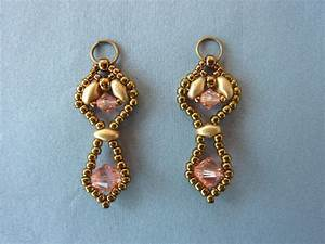 Free Beading Pattern For Framed Crystal Drop Earrings