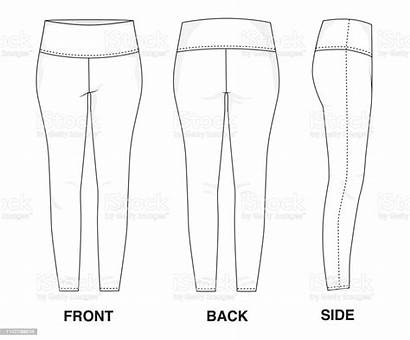 Leggings Template Clothes Blank Pants Sports Side