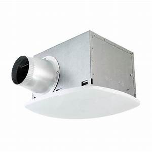 Nuvent super quiet 80 cfm high efficiency ceiling bathroom for Best quiet bathroom exhaust fan