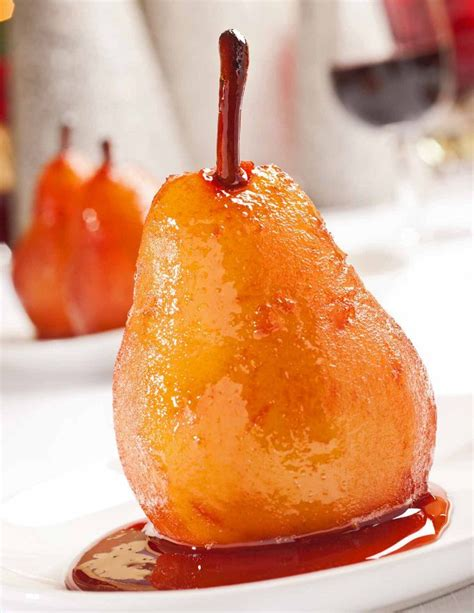 cook pears for dessert port wine poached pears recipe mygourmetconnection 174