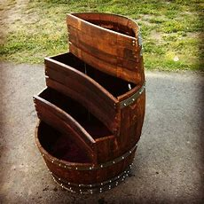 Another Spin On A Wine Barrel Planter By Covingtonwoodworkscom  New House  Wine Barrel