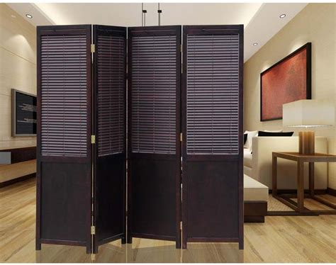 Panel Solid Wood Screens Room Dividers Freestanding