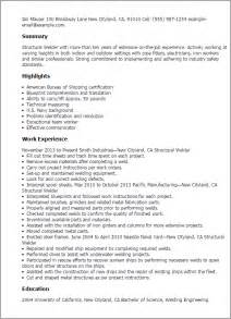 resume for welder professional structural welder templates to showcase your talent myperfectresume