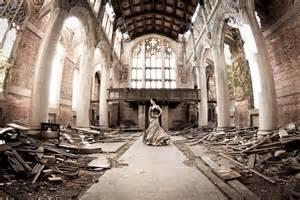 trash  dress    abandoned church  gary