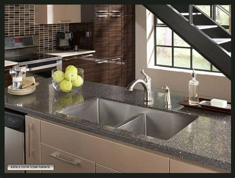 solid surface kitchen sinks how to choose a sink for solid surface countertops