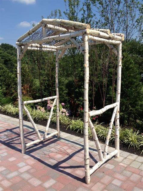 hand crafted rustic birchwood arbor projects