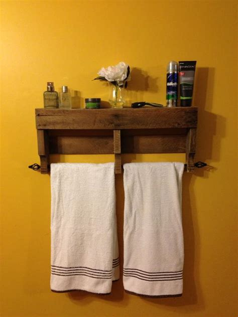 items similar   original rustic pallet towel rack