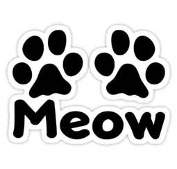 cat paw vs paw quot cat paw meow quot stickers by kimberlymarie redbubble