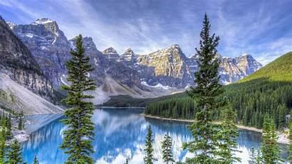 Hdr 4k Canada Lake Moraine Alberta Ultra