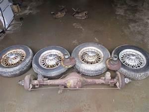 Mg Midget Austin Healey Sprite Wire Wheel Setup