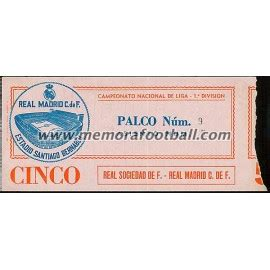 Real sociedad is playing on sunday august 15th, 2021 at camp nou in barcelona. Real Madrid vs Real Sociedad 09-11-1980 Spanish League ticket