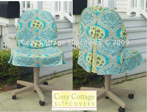 office chair slipcover cozy cottage slipcovers home office chair slipcovers