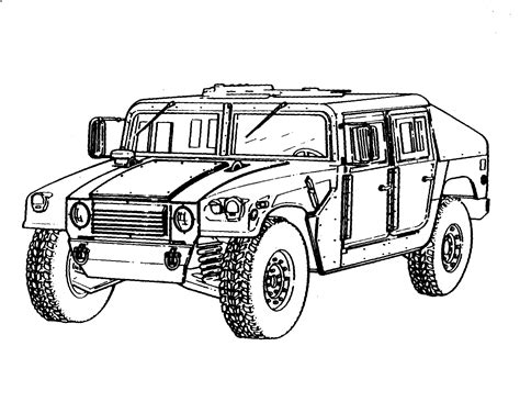 military hummer drawing army clipart hmmwv