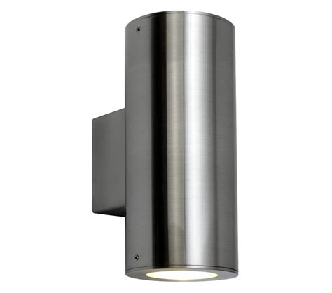 astro detroit up exterior wall light brushed stainless steel finish 0381 from easy
